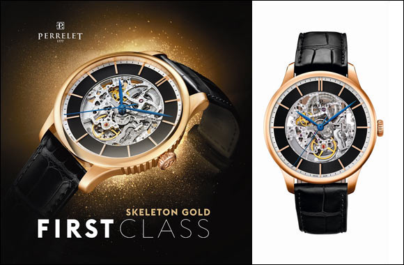 First Class & First Class Skeleton with gold case - Perrelet: showcasing a stunning dialogue between gold and tradition