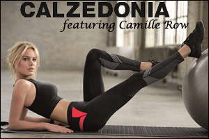 Calzedonia new Fitness line featuring Camille Row on-trend comfort and practicality