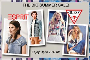 GUESS and ESPRIT The Big Summer Sale!