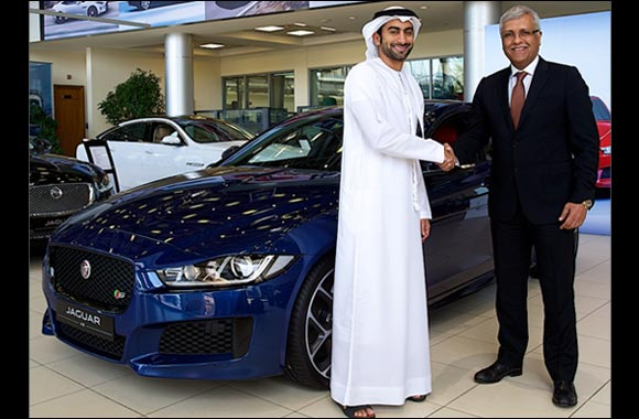 Al Tayer Motors Hands Over the new Jaguar XE to 'Forward Thinker' Anas Bukhash in the UAE