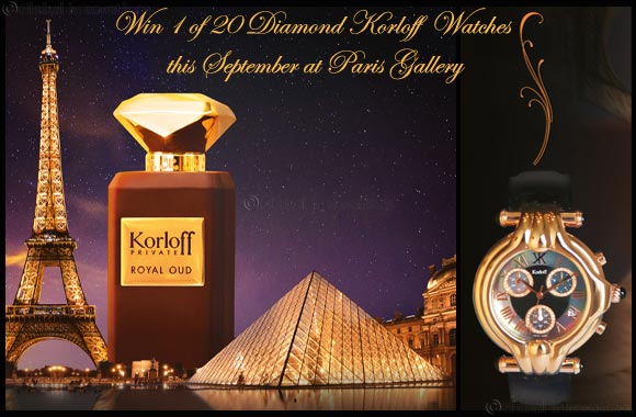 Twenty Diamond-Studded Korloff Watches to be won at Paris Gallery this September