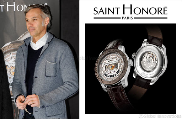 Former French Formula I star and actor Paul Belmondo wears a SAINT HONORE watch