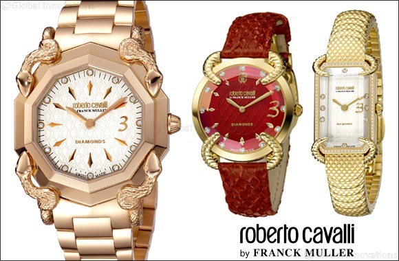 Roberto Cavalli by Franck Muller, Swiss Made watches, launched exclusively at Paris Gallery