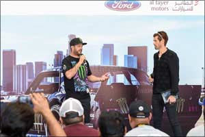 Driving sensation ken block meets fans at al tayer motors