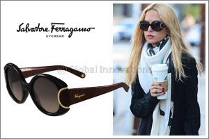 Spotted! Rachel Zoe Wearing Salvatore Ferragamo Signature Sunglasses