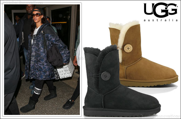 Rihanna Rocks the UGG Bailey Button