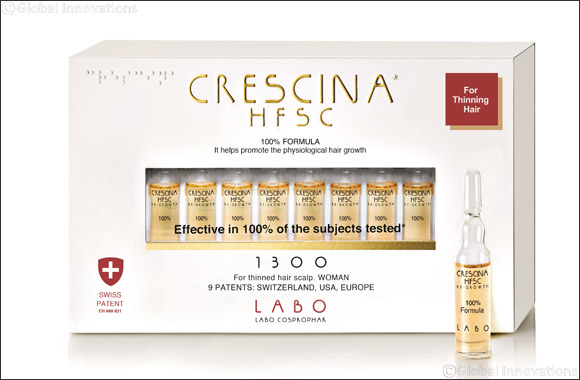 Crescina Re-Growth HFSC 100% helps to stimulate the natural hair re-growth