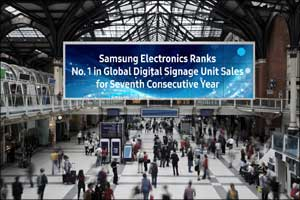 Samsung Electronics Ranks No. 1 in Global Digital Signage Unit Sales for Seventh Consecutive Year