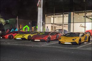 Lamborghinis past and present gather at Lamborghini Kuwait