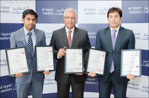 Al Tayer Motors Receives Five ISO Certifications