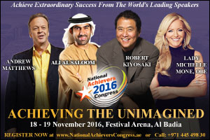 The National Achievers Congress Set to inspire the Middle East - Held for the first time in the regi ...