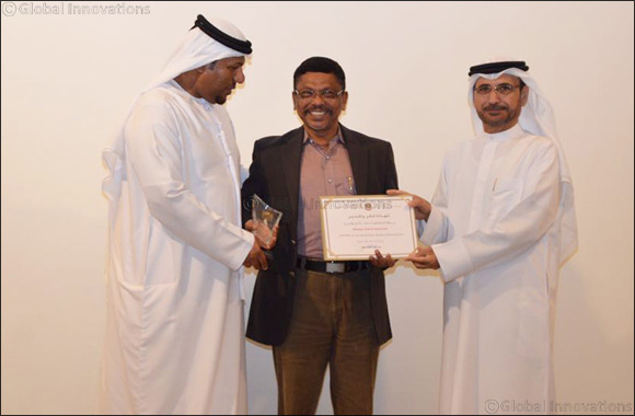 Malabar Gold & Diamonds awarded for their year long support to Ministry of Sharjah