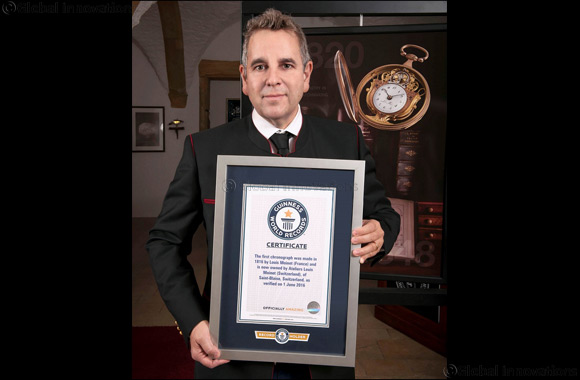 Louis Moinet awarded Guinness World Record for inventing First Chronograph