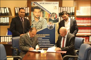 Skyline University College (SUC) signed an MOU with E-Durar