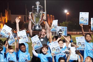 Melbourne City FC's First Ever Trophy Arrives in Abu Dhabi