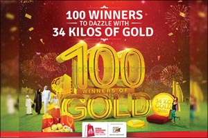 �100 Winners to dazzle with 34 Kilos of Gold' this DSF along with Malabar Gold & Diamonds