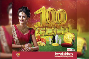 100 winners to be dazzled with 34KG gold by Joyalukkas for Dubai Shopping Festival 2016
