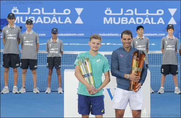 Lasvit Trophy Raised by Rafael Nadal at the Mubadala World Tennis Championship
