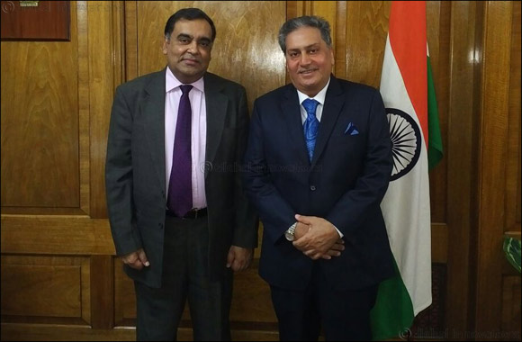 Kamal Vachani, Group Director of Al Maya Group meets H.E. Mr Yash Sinha in London