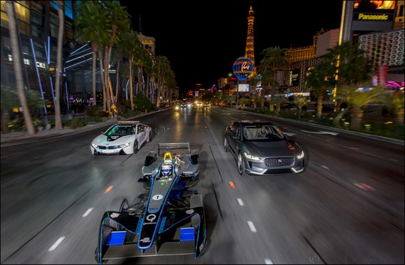 Bright Lights and Big City Awaits Panasonic Jaguar Racing At Million Dollar VISA Vegas eRace