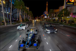 Bright Lights and Big City Awaits Panasonic Jaguar Racing At Million Dollar VISA Vegas eRace