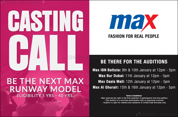 "Casting Call: Max Fashion calls out ""Real People"" to showcase Spring Collection in February!"