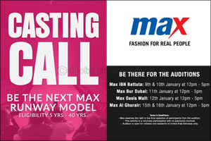 Casting Call: Max Fashion calls out �Real People� to showcase Spring Collection in February!