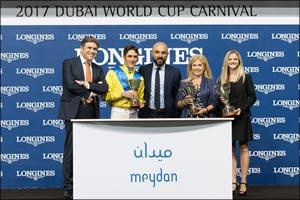 Longines timed the Dubai World Cup Carnival races at Meydan Racecourse