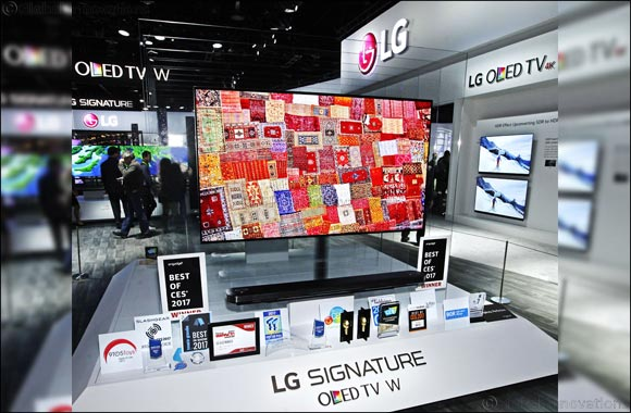 "LG Electronics Earns ""Best of the Best"" CES 2017 Honors for LG Signature Series W7 Wall-Paper TV"