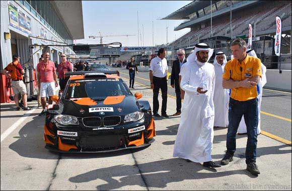 Sulayem Tours Dubai Autodrome Race Paddock Ahead of Hankook 24h Dubai