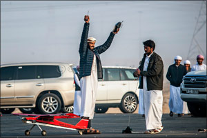 Earth shattering winning times in RC Airplane finals of Fazza Championship for Falconry Tilwah