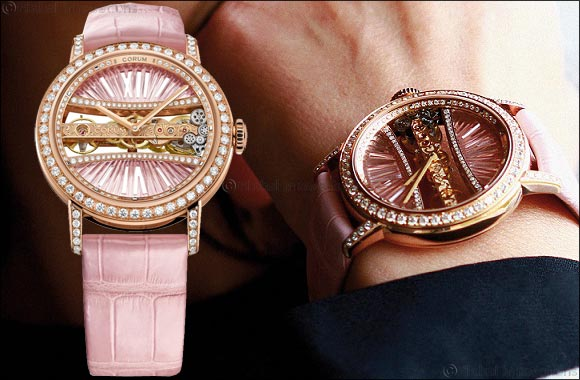 Corum's Lady Golden Bridge Round 39 mm an ideal gift for Valentine's Day