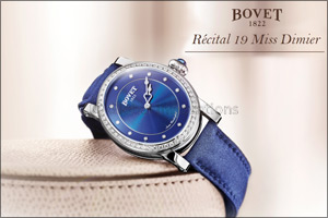 BOVET - New ladies timepiece launched at Bovet Salon in Geneva - R�cital 19 Miss Dimier