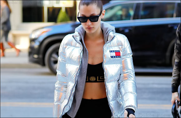 Bella Hadid wears Tommy Jeans in New York