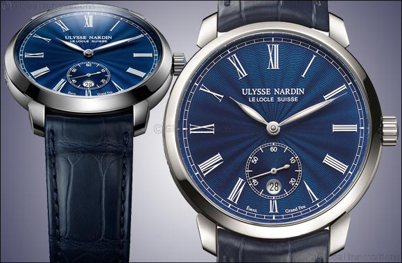 "Ulysse Nardin highlights the exquisite art of enameling with a translucid blue Classico Manufacture ""Grand Feu"""