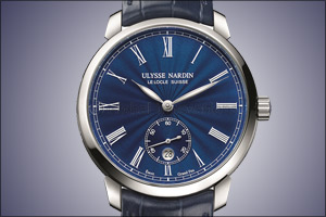 Ulysse Nardin highlights the exquisite art of enameling with a translucid blue Classico Manufacture  ...