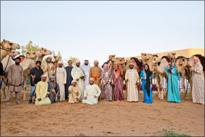 Heroes welcome for riders after successful conclusion of �Camel Trek' expedition in the desert of th ...