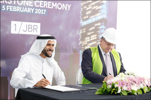 Dubai Properties' iconic tower development 1/JBR on track for Q4 2019 completion