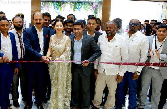 Actress Tamannaah Bhatia inaugurated Malabar Gold & Diamonds' new showroom in Bangalore at Marthahalli