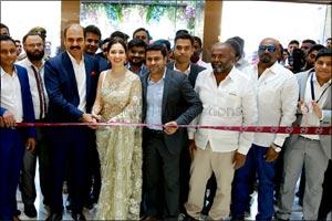 Actress Tamannaah Bhatia inaugurated Malabar Gold & Diamonds' new showroom in Bangalore at Marthahal ...