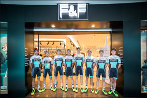 Great Britain One Pro Cycling Team visit F&F Store for Styling Tips