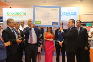 Choithrams Donates AED 1.3 Million To The United Nations World Food Programme To Fight Child Hunger