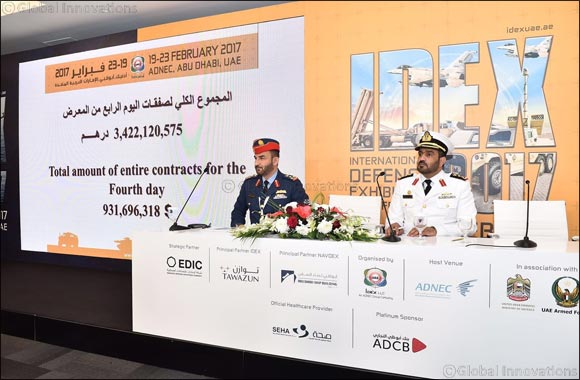 IDEX 2017 Day 4: UAE Armed Forces Signs Deals worth more than AED 3.422 billion