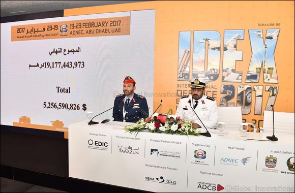 IDEX 2017 Day 5: UAE Armed Forces Signs Deals worth more than AED 344 Million