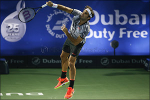 Roger Federer Begins His Bid for an Eighth Title at Dubai Duty Free Tennis Championships