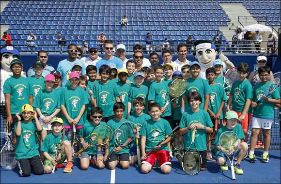 Young Tennis Stars Enjoyed Some Fun in the Sun With ATP Professional Doubles Players