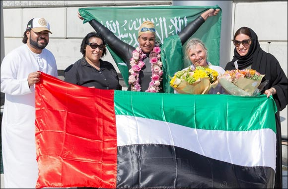 Dr. Mariam Saleh Binladen achieves another record of becoming the first ever Swimmer to cross Dubai Creek and the Dubai Water Canal over a distance of 24KM