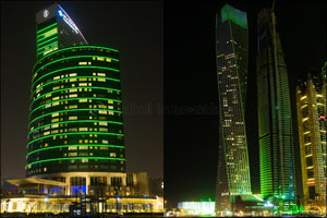 The UAE Goes Green for Ireland's National Day