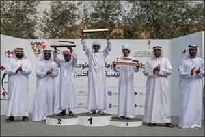 Hassan Al Qayedi, Afra Al Badi emerge champions in Fazza Championship for Shooting Saktoun for Local ...
