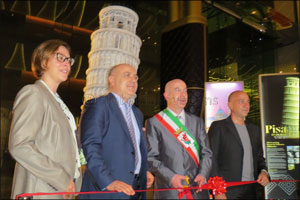 Inauguration in Dubai of the Alabaster Tower of Pisa